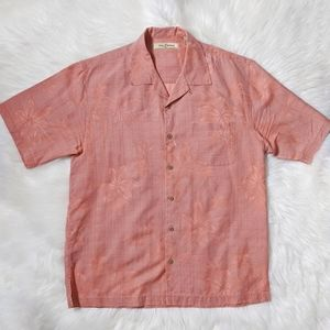 Tommy Bahama 100% Silk Short Sleeve Shirt Medium M